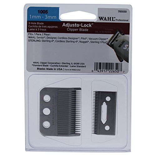 Adjusto Lock (Wahl Professional Adjusto-Lock (1mm – 3mm) Clipper Blade #1005 - Great for Professional Stylists and Barbers – Includes Oil, Screws & instructions)