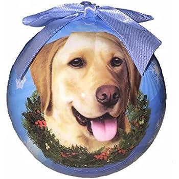 Amazon.com: Yellow Labrador Retriever Tiny One Dog Angel Christmas ...