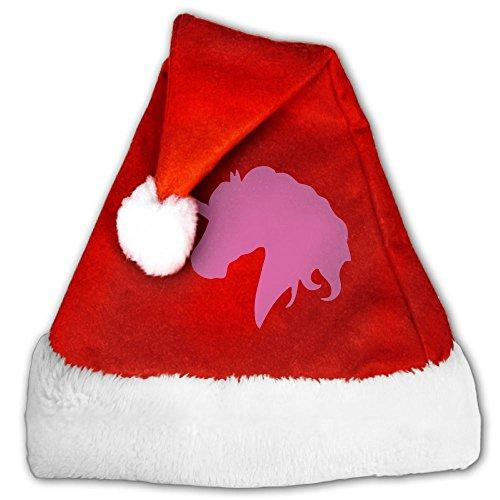 LingLake X-mas Pink Unicorn Santa Hat Christmas Costume Headwear