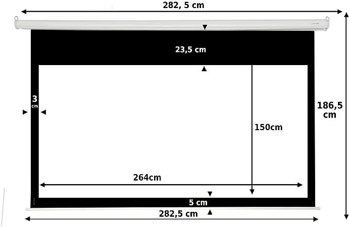 Pantalla de proyeccion Manual Luxscreen 120