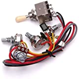 【ノーブランド品】LP 2T2Vギター 回路 配線 LPエレキギター 3ボックス トグルピックアップセレクター 2V/2T/1J
