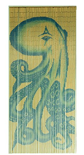 - Tachilc Bamboo Door Bead Curtain Wall Art Window Treatment Room Divider – Octopus