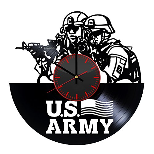 US Army Vinyl Record Wall Clock