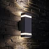 Biard Architect Square Up/Down Wall Light Black - Outdoor Indoor Garde