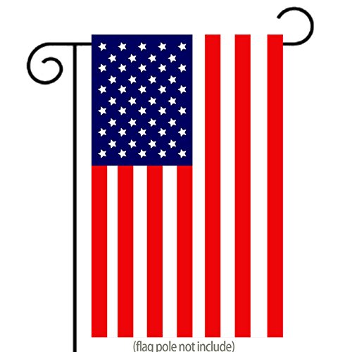 Classic American Flag Garden Flag | Double-sided, Polyester, 12