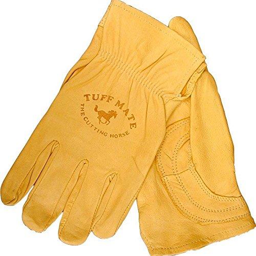 Tuff Mate Gloves Mens Tuff Mate 1301 Cutting Horse Glove L Tan (Mens Tuff Glove)