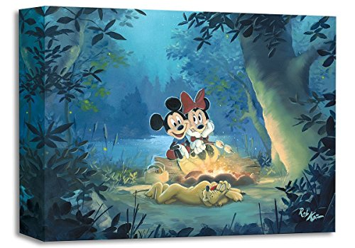 Family Camp Out - Treasures on Canvas - Disney Fine Art Mickey and Minnie Mouse Gallery Wrapped Canvas Wall Art by Rob Kaz