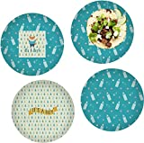 Baby Shower Set of 4 Lunch / Dinner Plates (Glass) (Personalized)