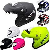 Leopard *Road Legal LEO-717 Flip up Front Motorbike Motorcycle Scooter Helmet   Full Sizes*Colors