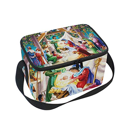 Magi At The Manger Lunch Box Insulated Lunch Bag Large Cooler Tote Bag Picnic School Women Men Kids