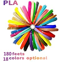 7TECH 3D Pen/Printing/Drawing Pen Filament Refills PLA 1.75mm 24 Colors, 240 Feet with 280 Stencil E-Book (Wood,Silver,Gold,Copper,6 Fluo,20 Common),High-Precision Diameter Filament