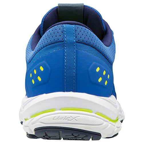 blanc Mizuno Shoes Blue Men's Stream jaune fluo bleu Wave Running rBnT0Wrq