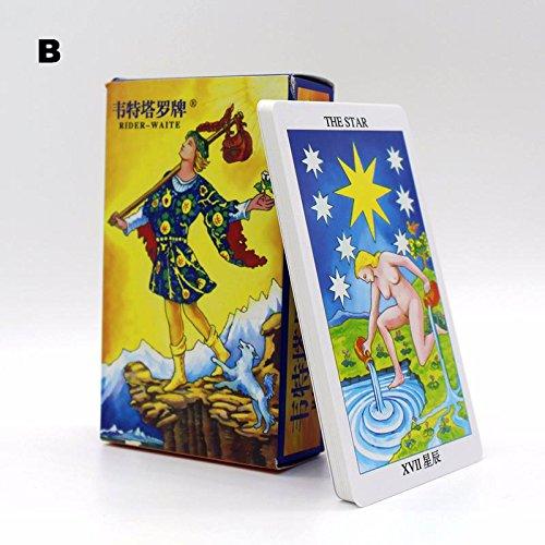 6 Options Tarot Cards 78 Cards/Set New Design Tarot Cards Game Chinese/English Tarot Board Game