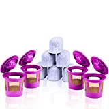 4 Reusable K Cups, 6 Water Filters for Keurig K10 K15 K40 K45 K50 K55 K60 K65 K70 K75 K100 K135 K140 K145 K150 K200 K250 K300 K350 K400 K450 K500 K550 by GoodCups