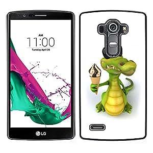 LECELL--Funda protectora / Cubierta / Piel For LG G4 -- Helado cocodrilo amistoso --