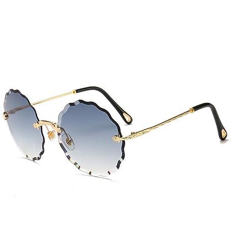 Yangjing-hl Gafas de Sol sin Marco para Mujer Gafas de Sol ...