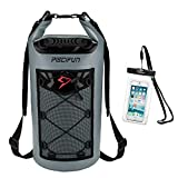 Piscifun Waterproof Dry Bag with Waterproof Phone Case Grey 10L