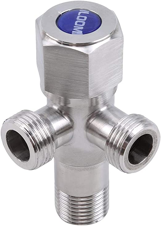 "2PCS Triangle  Angle Valve 1//2/"" Kitchen Bathroom Toilet Water Stop Valve"