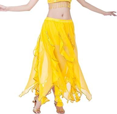 Mujer Faldas Asimétricas De Danza del Vientre Falda Grande del ...