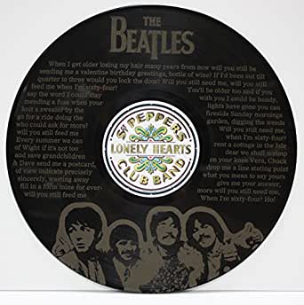 "The Beatles When I'm 64 LTD Edition 12"" vinyl LP record Laser Etched wall art, ready to hang. ""M4"""