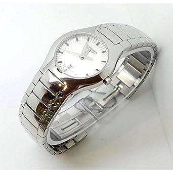 Uhr Longines EFC l35064726 Quarz (Batterie) Stahl Quandrante weiß Armband Stahl