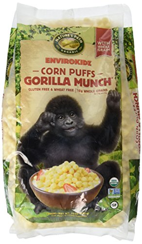 Puffs Corn Organic (Envirokidz Organic Gluten Free Cereal, Corn Puffs Gorilla Munch, 23 Ounce Bag (Pack of 3))
