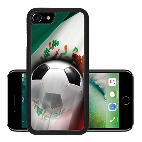 Liili Premium Apple iPhone 7 iPhone7 Aluminum Backplate Bumper Snap Case IMAGE ID: 6832249 Soccer ball streaks across flag of Mexico