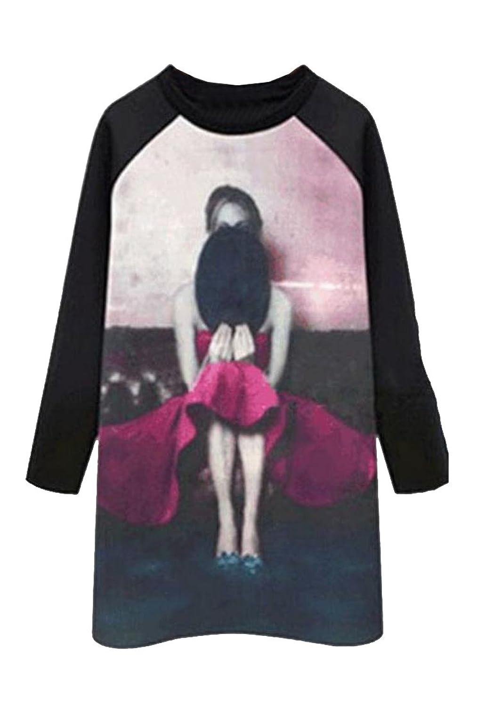 Vska Women's Fashion Pullover Long Sleeve Tops Outwear