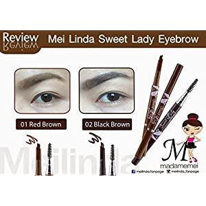 Eye brow pencil with brush for brown hair color (Blackbrown)