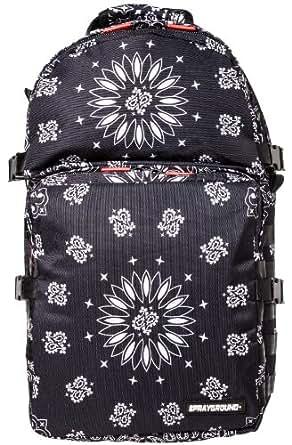 Sprayground Women's Bandana Trooper Backpack One Size Black