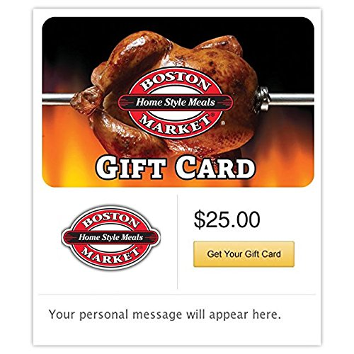 Boston Market Gift Cards - E-mail Delivery