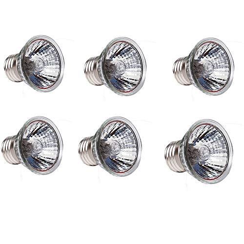 (EBD Lighting 50W UVB Light UVA Bulb E27 Heating Lamp (6 Pack) UVA + UVB Full Spectrum Sun Lamp Sunbathe Reptile Lizard Lamp UV Heating Lamp Full Spectrum Sun lamp)