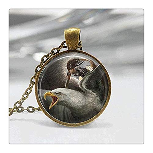 (Eagle Necklace Glass Tile Necklace Eagle Jewelry Glass Tile Jewelry Bird Jewelry Silver Jewelry Silver Necklace Black Jewelry Bird Necklace)