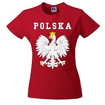 d3212fdc4a3f9f Koszulka Polski Womens Polish Tshirt TEE Orzeł Biały Eagle godło T-Shirt  Polska Poland Damska KOSZULKI UK Emigracja biało czerwone red polskie  patriotyczne