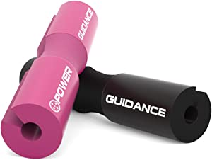 POWER GUIDANCE Barbell Squat Pad - Neck & Shoulder Protective Pad - Great for Squats, Lunges, Hip Thrusts, Weight Lifting & More - Fit Standard and Olympic Bars Perfectly
