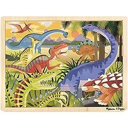 Melissa & Doug Puzzle Rompecabezas de Madera, Dinosaurios