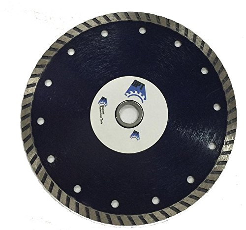 5-Pack DPT 7- Inch Diamond Saw Blade Wet/ Dry Turbo for Cutting Tile, Ceramic, Granite, Concret, Bricks, Stone, and Masonry Materials, Super Plus Quality (Saw Plus Tile Wet)
