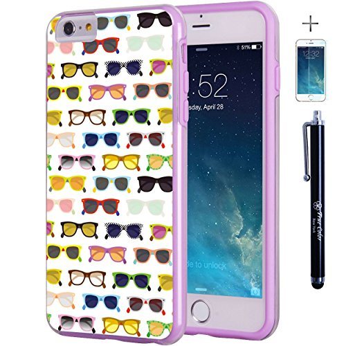 """iPhone 6 6s Plus 5.5"""" Case, True Color Colorful Hipster Sunglasses Slim Hybrid Hard Back + Soft TPU Bumper Protective Durable [True Protect Series] +FREE Stylus & Screen Protector – - Sunglasses Naruto"""