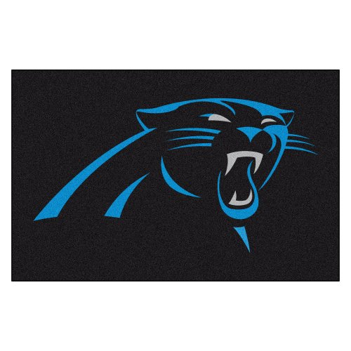 Face Panther (Fanmats NFL Carolina Panthers Nylon Face Starter Rug)