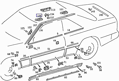 Amazon Com Mercedes W201 W124 Roof Trim Clip Bracket Clamp