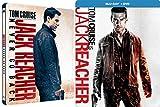 Tom Cruise Steelbook Jack Reacher Double Feature DVD + Blu Ray & Jack Reacher: Never Go Back Movie Bundle