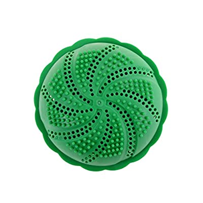 Ioffersuper 1 Pcs Eco Friendly Wash Ball & Detergent-Free Laundry Ball,Green
