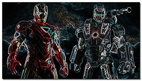 Fit You Captain America 3 - Civil War Movie Art Canvas Poster Es Iron Man Spider Man Black Widow Hulk 48 ()