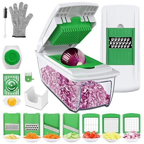 Vegetable Choppers, Vegetable Chopper Food Chopper Cutter Onion Slicer Dicer, Veggie Slicer Manual Mandolin Slicer for…