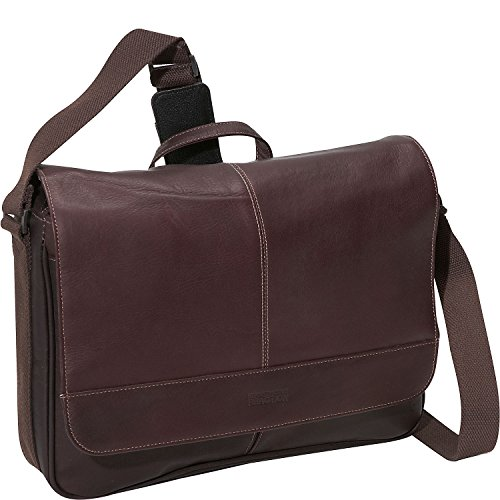 Kenneth Cole Reaction Columbian Leather Messenger Bag in Brown by Kenneth Cole