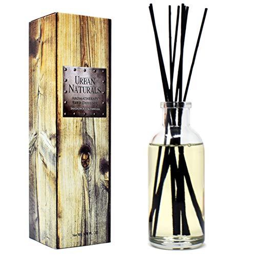 (Urban Naturals Sandalwood & Vanilla Reed Diffuser Oil Gift Set | Tahitian Vanilla intermeshes & Desert Sandalwood Mingle to Create a Southern Bourbon Scent! | Great Idea)