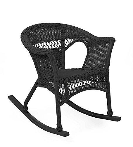 black resin wicker chair - 4