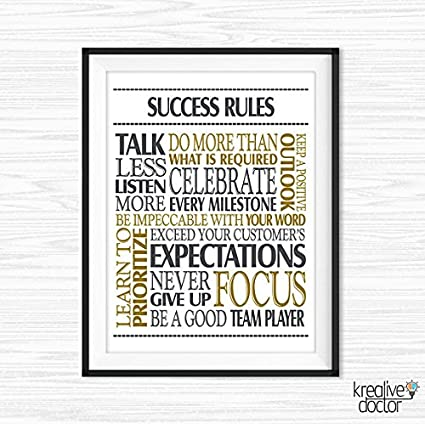 Amazon.com: Success Quotes Office Wall Art Printable Office