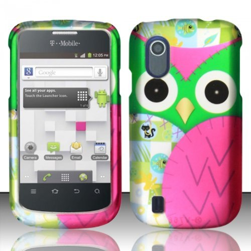 For ZTE Concord V768 (T-Mobile) Rubberized Design Cover Case - Owl Design (T Mobile Concord Phone Cases)