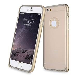 "Para iphone 6 (4.7 "") , ivencase Premium Aluminum Metal 2in1 Frame [Caro Crystal] Hybrid Slim Bumper Protector Funda Carcasa Tapa Case Cover Designed Para Apple iphone 6 (4.7 inch) / iphone Air Oro"